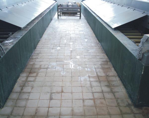 玻璃钢防腐瓷砖地坪