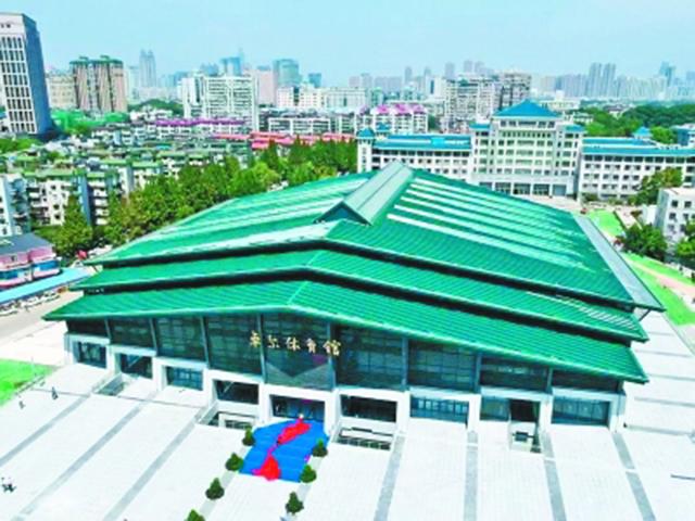 中国武汉第七届军运会:武汉大学体育馆鲁班奖场馆